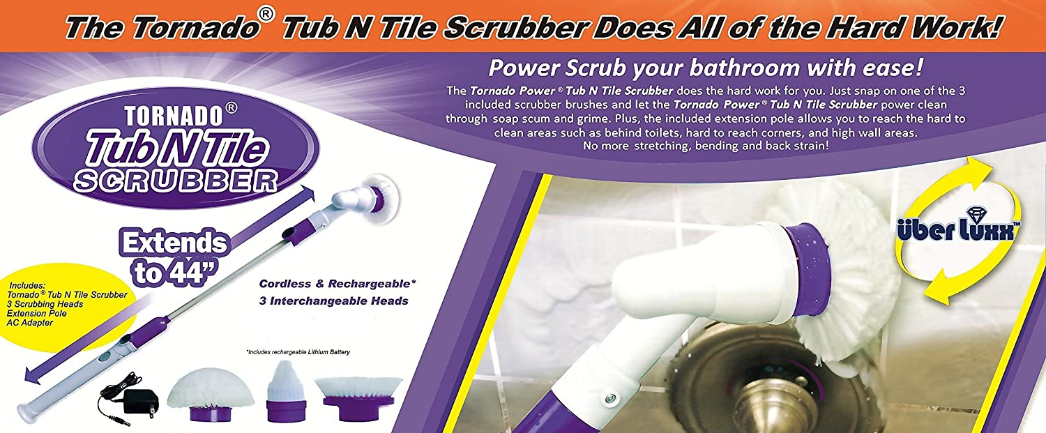 Amazon.com: Electric Power Spin Scrubber Brush for Bathroom ...
