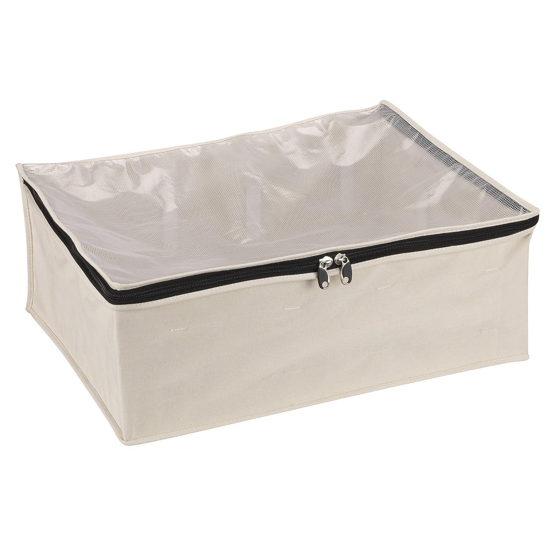 b3270c8650 Amazon.com  Household Essentials 3364-1 Cotton Canvas Blanket Storage Bags