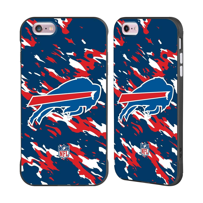 Ufficiale NFL Strisce Buffalo Bills Logo Nero Fender Case per iPhone X/iPhone XS Head Case Designs H6001-IPHX-NFLLOBUF-STR