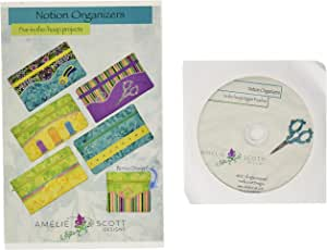 8 Designs From Amelie Scott Designs Classy Zipper Pouches Machine Embroidery CD