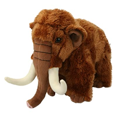 Living Nature-AN283 Woolly Mammoth 20cm Soft Plush Toy, Color Desconocido (Keycraft AN283: Juguetes y juegos