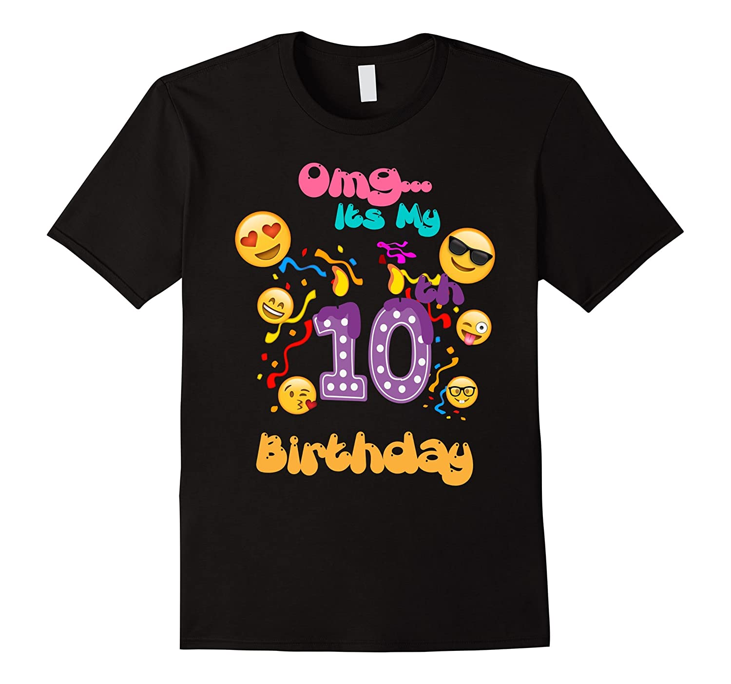 Emoji T Shirt For 10 Year Old Awesome Kids Birthday T