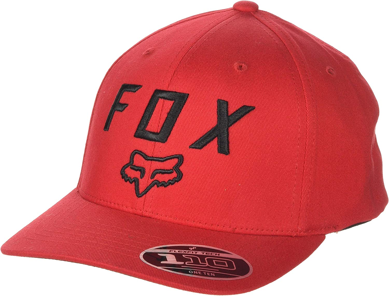Fox Racing Men/'s Legacy Flexfit Hat Dark Red Baseball Cap Headwear