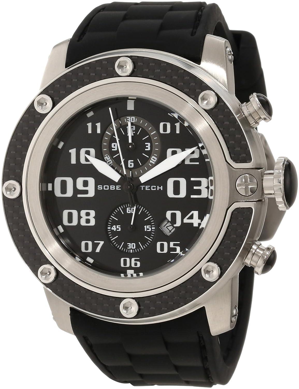 Glam Rock GR33102 - Reloj analógico de Cuarzo Unisex, Correa de Silicona Color Negro