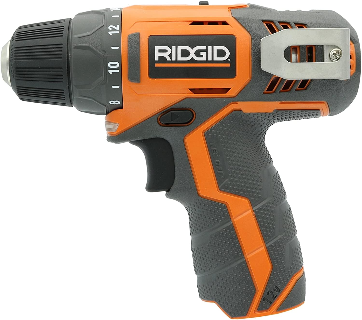 Ridgid R82005 Genuine OEM 3 8 Inch 12V Lithium Ion Brushless and Cordless 300 In-Lbs Drill Driver Battery Not Included, Power Tool Only Renewed