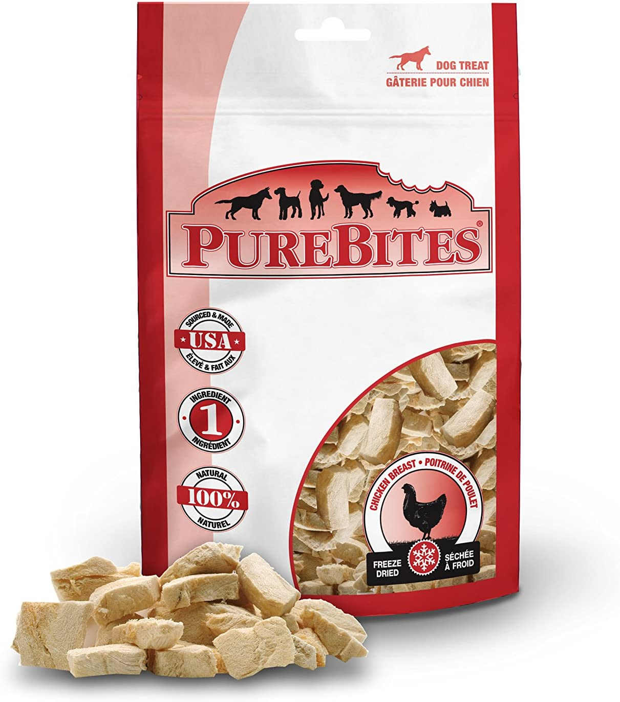 Purebites Chicken Breast For Dogs, 6.2Oz 175G – Value Size, 12 Pack