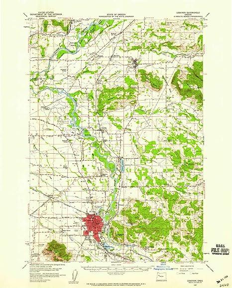 Amazon Com Yellowmaps Lebanon Or Topo Map 1 62500 Scale 15 X 15