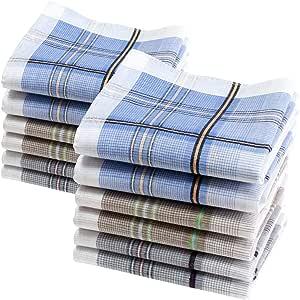 Merrysquare 12 pañuelos de Caballero - Modelo Lewis - 40 ...