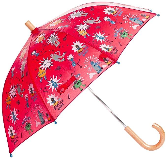 Hatley Umbrella -Robots - Paraguas para niños, color rot - rot, talla Talla