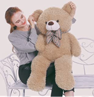 MorisMos Big Teddy Bear Stuffed Animals Plush Toy for Girlfriend Children Tan 39 inches