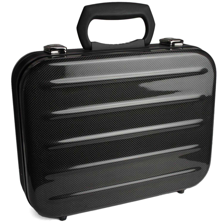 ビジネスバッグ/カーボンファイバー製アタッシュケースA4サイズ【CARFIBE】 軽量 頑丈 B005ZDJGE8 内装ピンク
