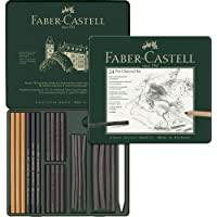 Faber-Castell 5188112978 Pitt M.chrome İşlenmiş Kömür Seti Siyah