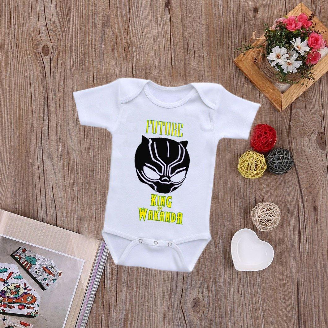 898388f9e41 Amazon.com  babybytes Future King Of Wakanda - Black Panther Marvel Baby  Bodysuit Onesie Set  Clothing