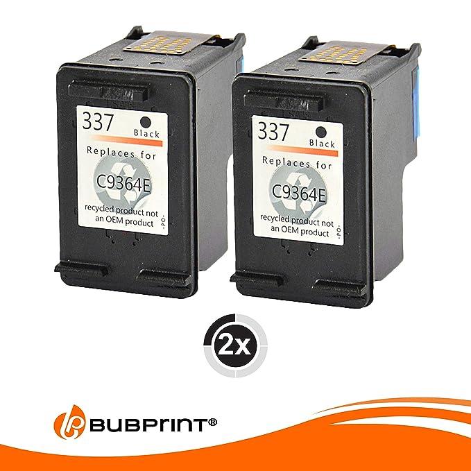 bubprint 2 Cartuchos de impresora compatible para HP 337 NEGRO ...