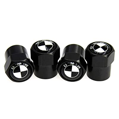 Tire Valve Stem Caps Black(29 Vehicle Models) with Rubber Seal Brass Material Dust Proof Covers Universal Fit Car,Truck,SUV,Motorcycle,Bike/Hexagon Easy-Grip/Leakproof,Airtight/Outdoors(4 Pack): Automotive