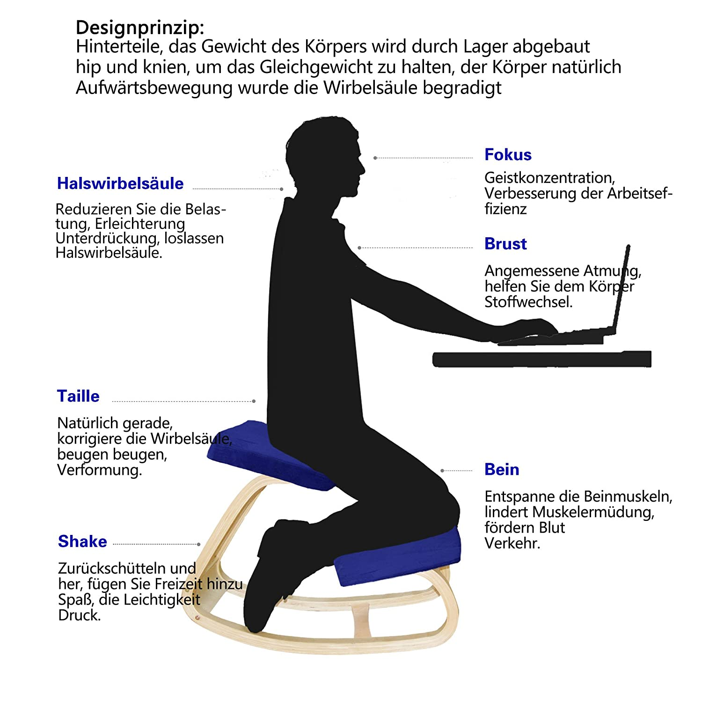 Amazon.com: MallBoo Ergonomic Kneeling Chair for Office/Computer ...