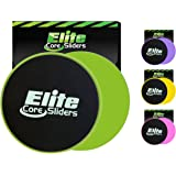 Elite Sportz Exercise Sliders are Double Sided and Work Smoothly on Any Surface. Wide Variety of Low Impact Exercise's You Can Do. Full Body Workout, Compact for Travel or Home