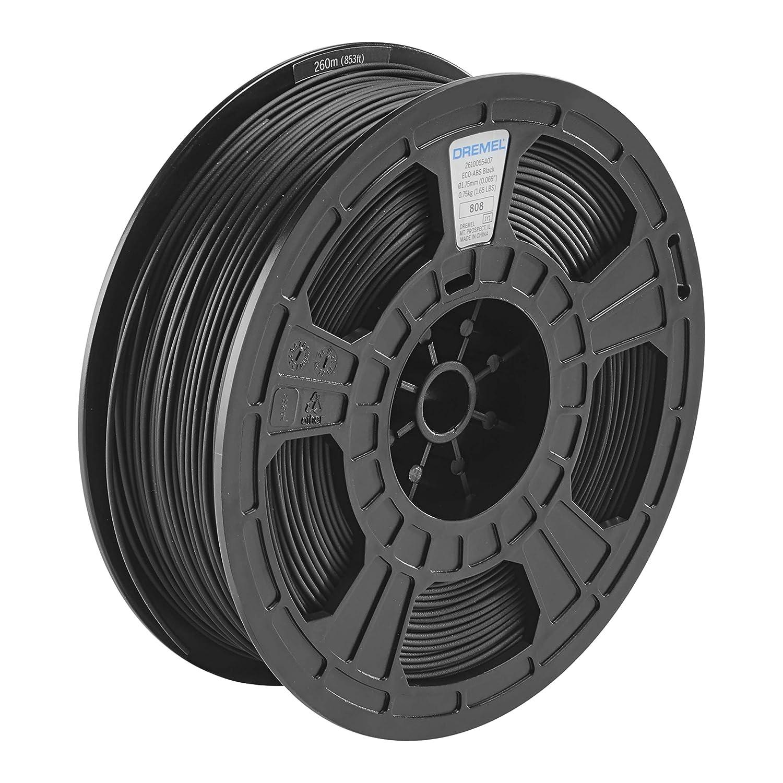 Dremel DigiLab ECO-BLA-01 3D Printer Filament, 1.75 mm Diameter, 0.75 kg Spool Weight, Color Black, RFID Enabled, New Formula and 50 Percent More per Spool