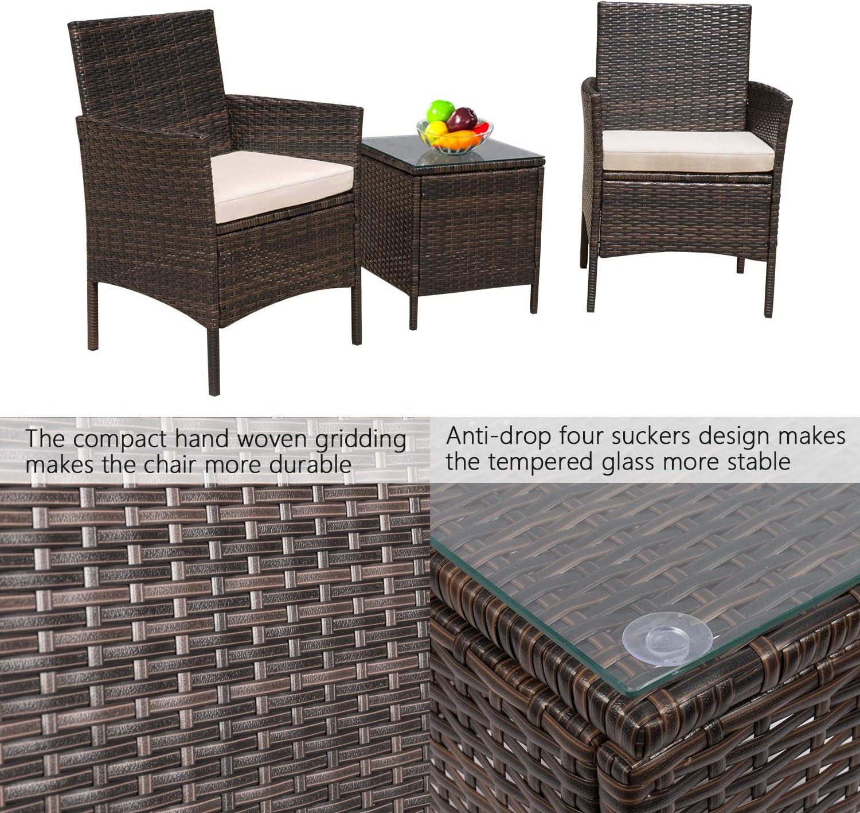 Amazon.com: Flamaker Juego de muebles de patio y silla ...