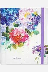 Hydrangeas Large Address Book Hardcover-spiral