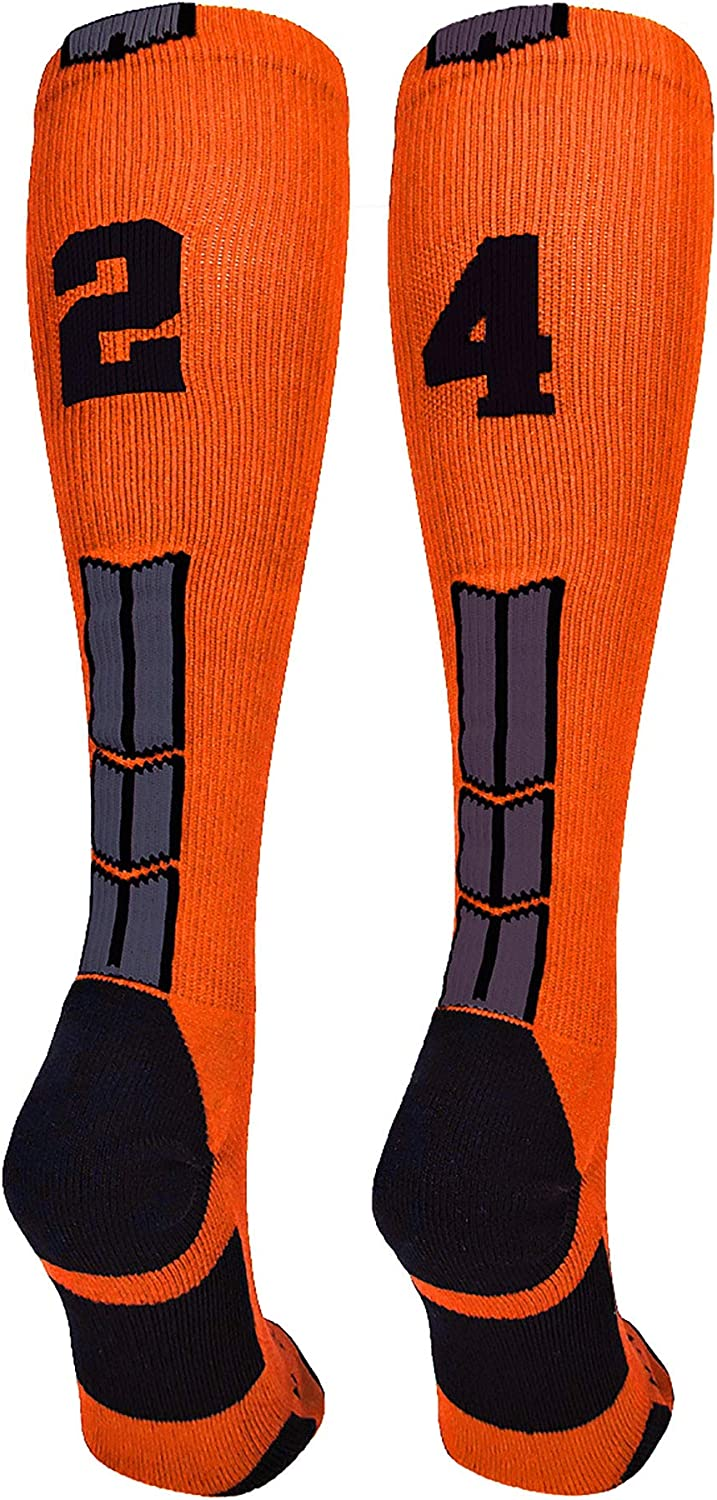 Player Id Jersey Number Socks Over the Calf Length Orange and Black