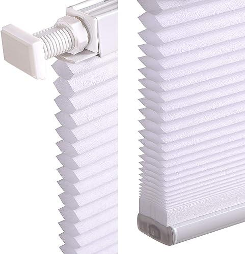 LazBlinds Cordless Cellular Shades No Tools No Drill Light Filtering Cellular Blind