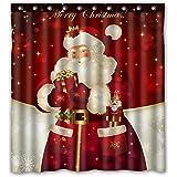 "Unique Custom Merry Christmas Dreamlike the Santa Claus Waterproof fabric Polyester Shower Curtain 66""X72""-Bathroom Decor (66"" x 72"", Color)"