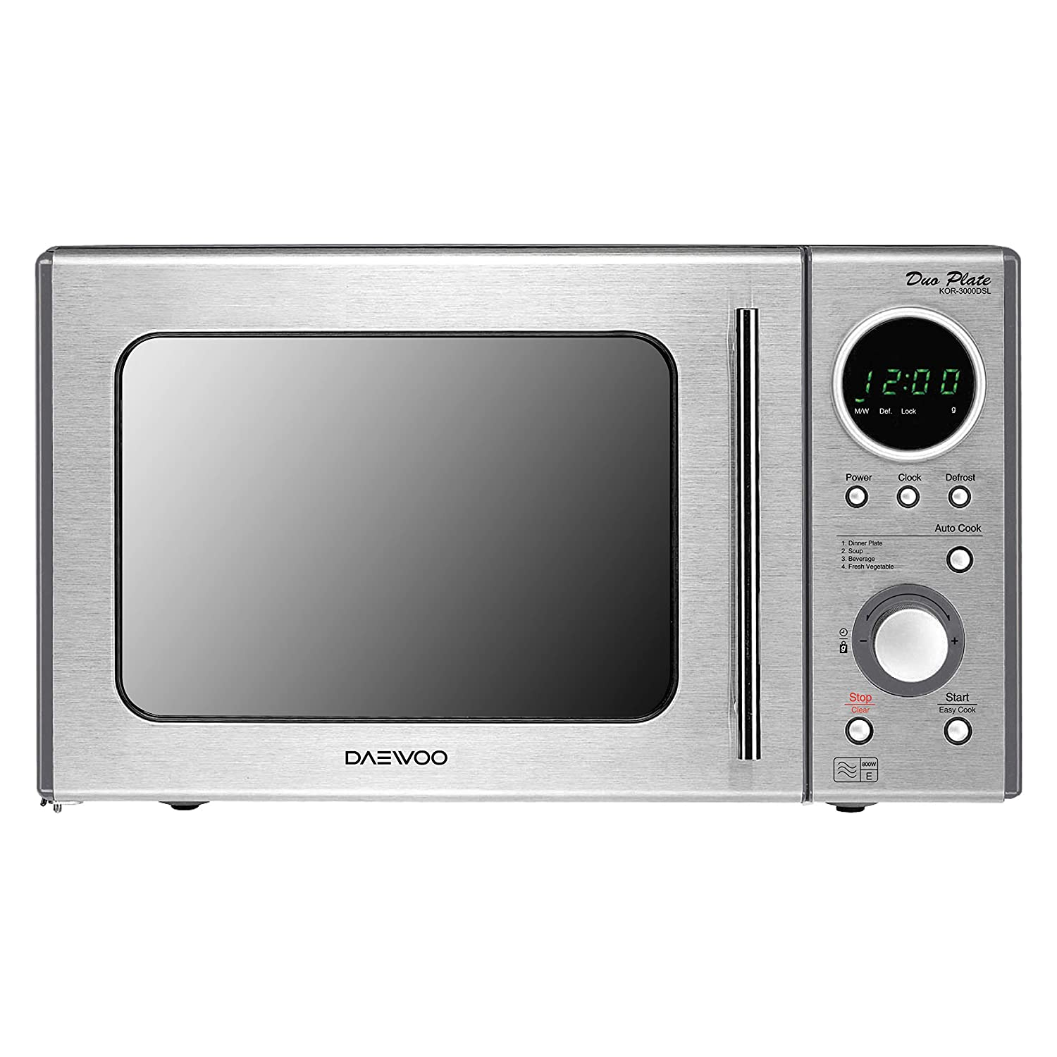 Daewoo KOR3000DSL Touch Control Solo Microwave Oven, 20 L, 800 W - Silver INM-DAEKOR3000DSL Microwave Ovens Small_Appliances