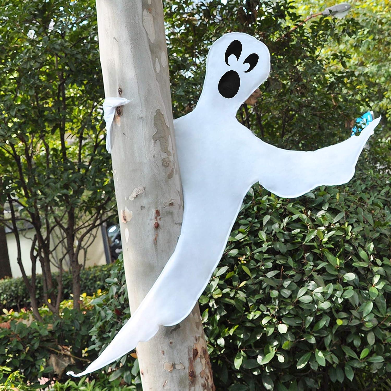 JOYIN Halloween Tree Wrap Ghost Decoration, Cute Ghost Design Decorations for Halloween Outdoor, Lawn, Tree Decor, Ghost Party Supplies