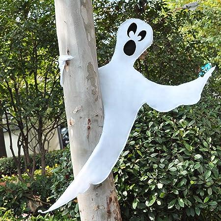 Amazon Com Joyin Halloween Tree Wrap Ghost Decoration Cute Ghost Design Decorations For Halloween Outdoor Lawn Tree Decor Ghost Party Supplies Garden Outdoor