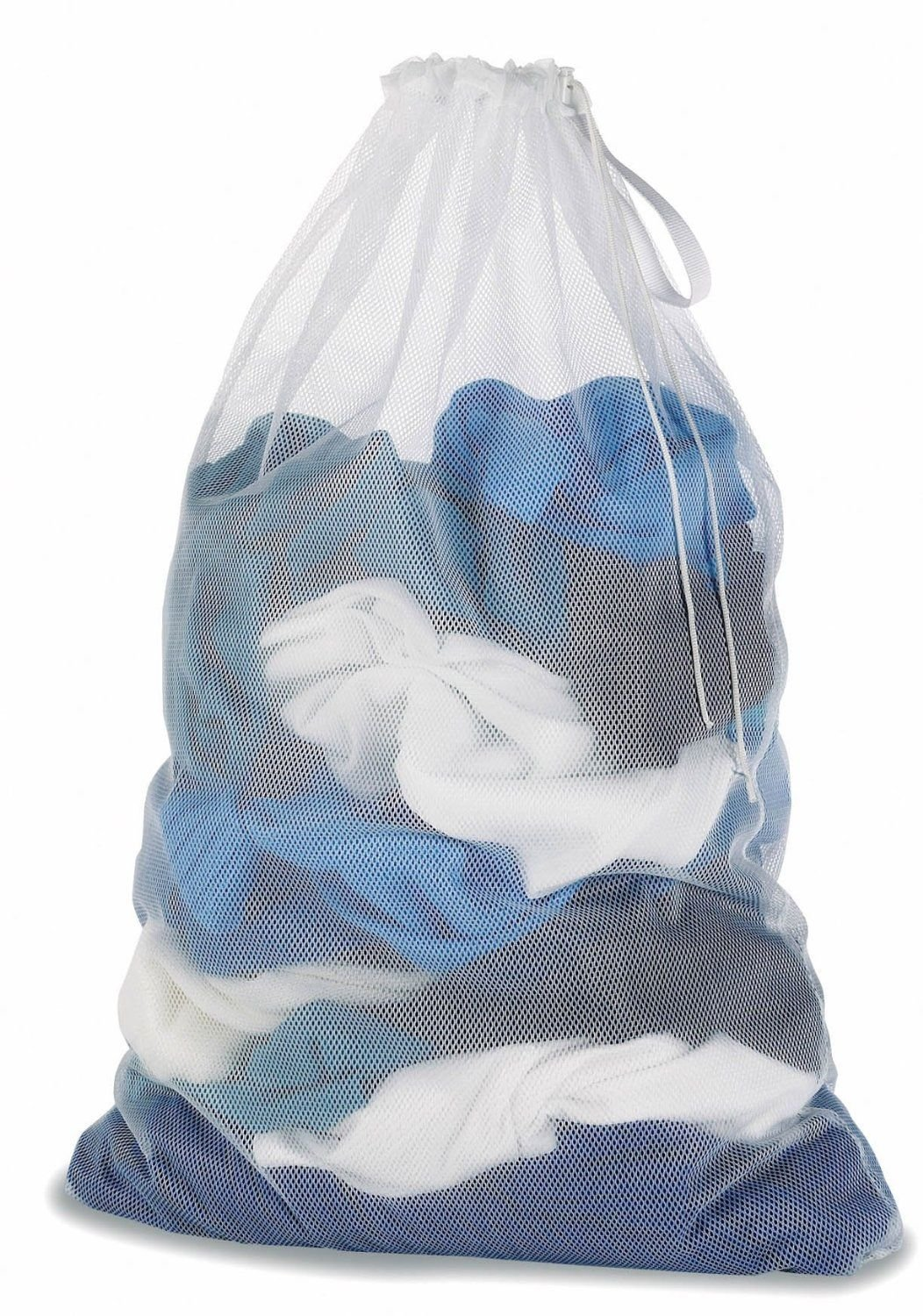 Generic YC-US2-151027-123 <8&24881> lyester4''x36'' Dorm Clothes 24''x36'' Dorm White Mesh College Storage Laundry Bag Organizer Polyester White Mesh