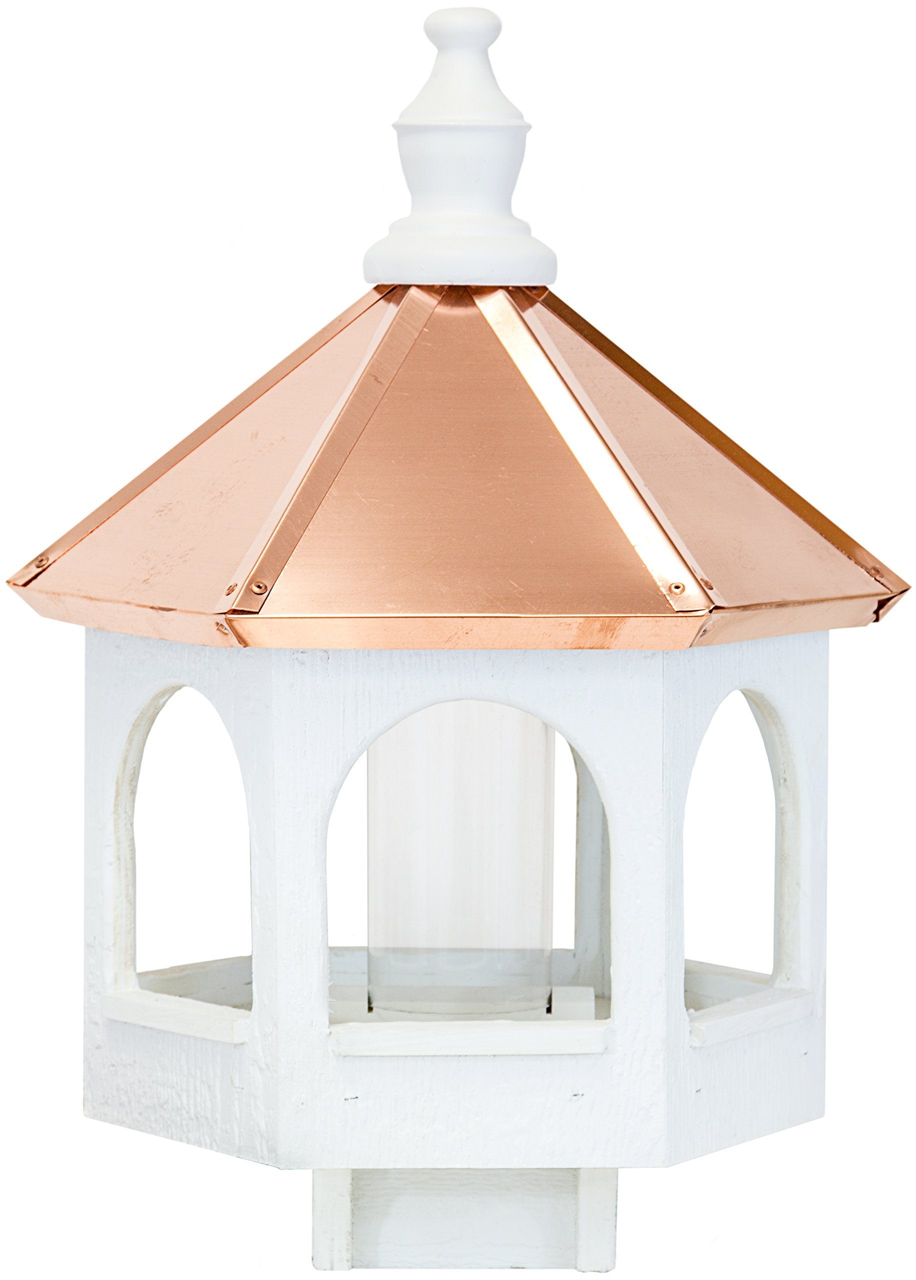 Amish 21'' Bird Feeder with Copper Roof, Handcrafted in the USA