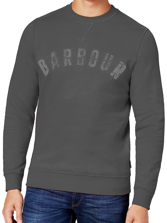 Amazon.com: Barbour para hombre gris cuello redondo sudadera ...
