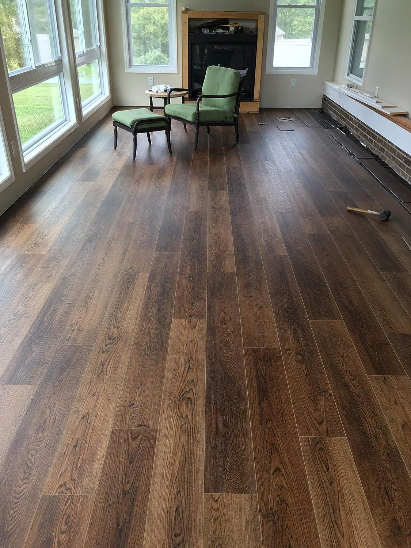 SUPERCore Xtreme Oak Gunstock Rigid SPC Waterproof Flooring 7 x 60