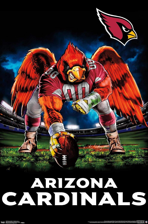 Trends International NFL Arizona Cardinals - 3 Point Stance 19 Wall Poster, 22.375