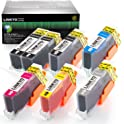 7-Pk. LINKYO Replacement Ink Cartridge for Canon Printer