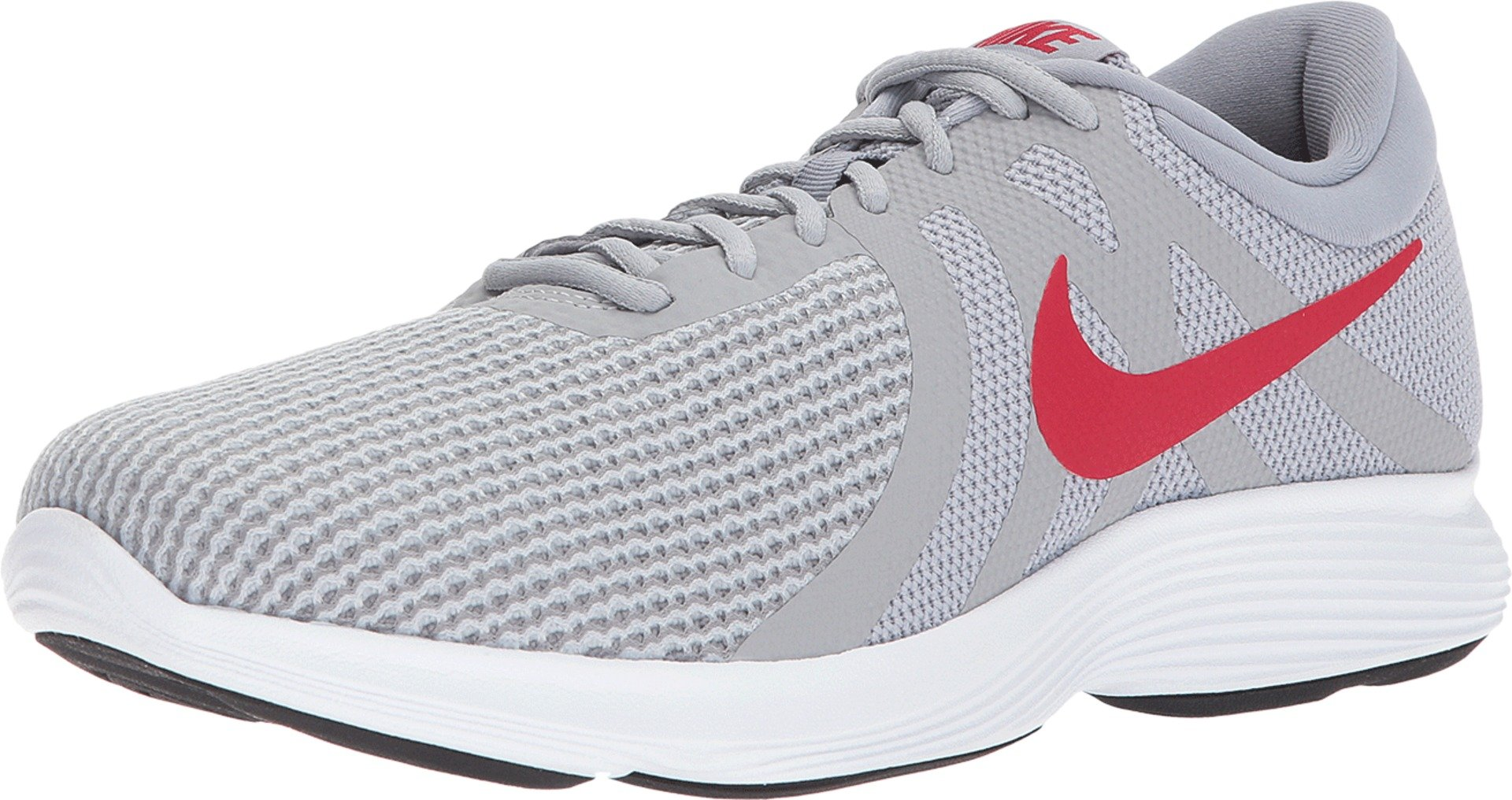 Nike Men's Revolution 4 Running Shoe Wolf Grey/Gym Red/Stealth/White Size 11 M US by Nike