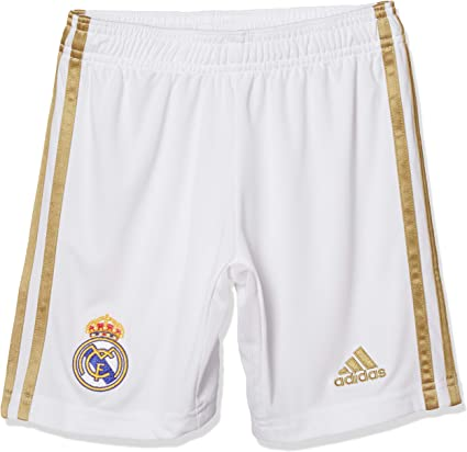 adidas 2019 2020 Real Madrid Home Shorts (White) Kids