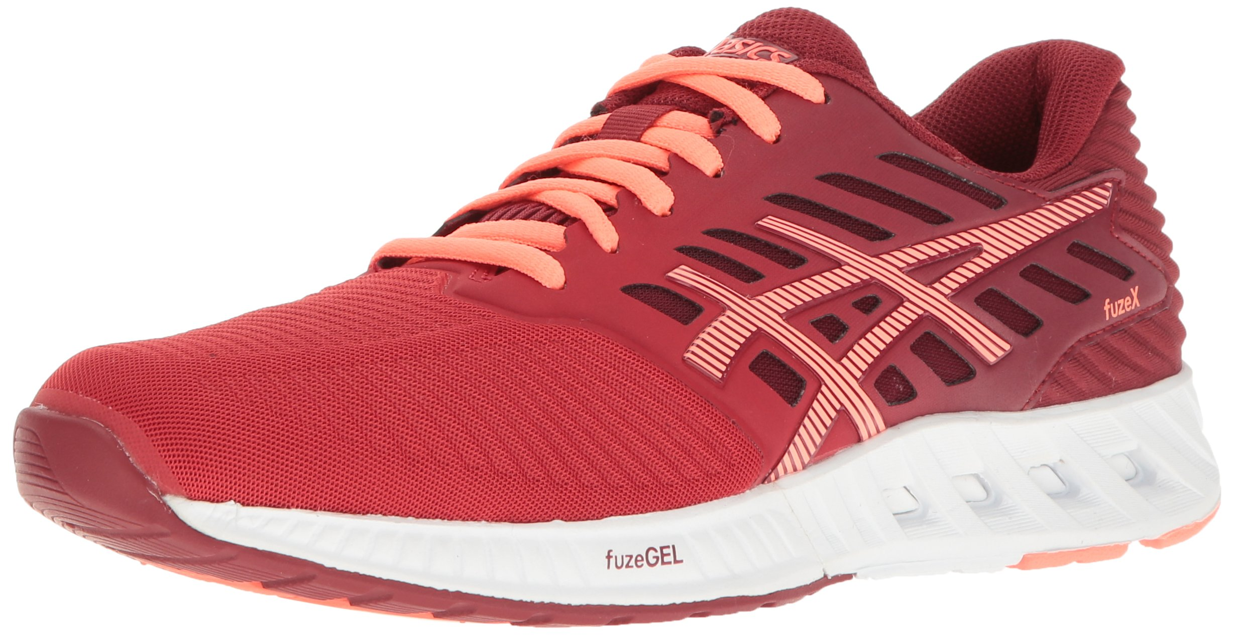 ASICS Women's Fuzex Running Shoe, Oat Red/Flash Coral/True Red, 9 M US