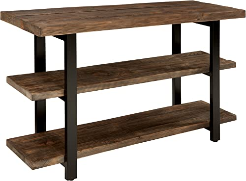 Sonoma 48 L Reclaimed Wood Media Console Table with 2 Shelves, Natural