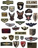 JINSELF ミリタリーワッペン 30枚セット サバゲー 自衛隊 アメカジ 米国 陸軍 空軍 補修 ALL