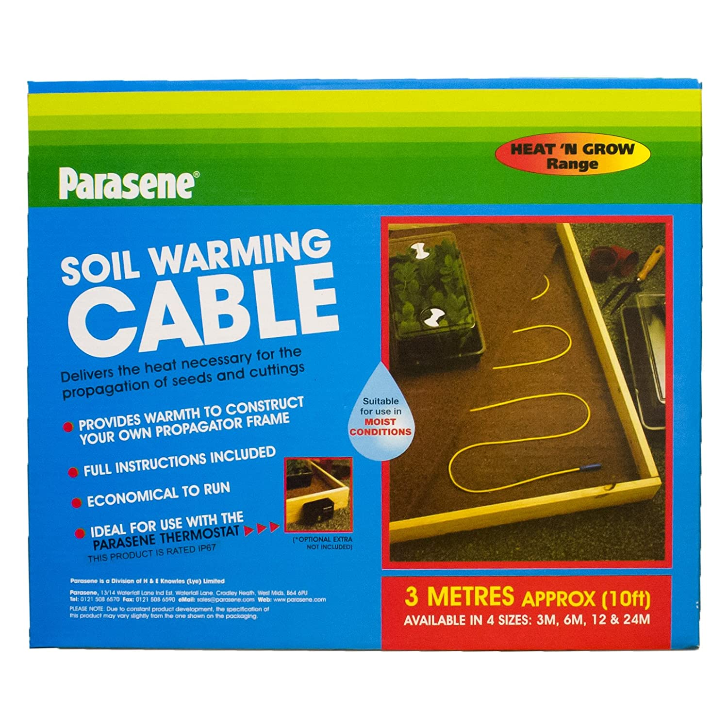 Elixir Gardens ® PARASENE 3 MT SOIL WARMING CABLE FOR MAKING PROPAGATORS / HEATED BEDS