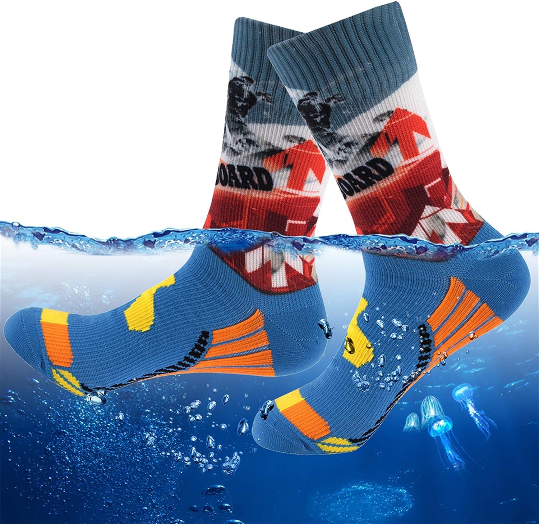 [SGS Certified] RANDY SUN Waterproof Socks, Breathable Hiking Wading Ankle/Crew/Knee High Socks