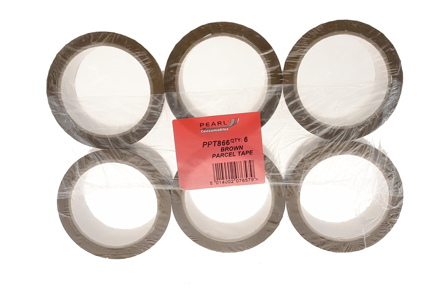 Pearl PPT866 50mm x 66m Parcel Tape (Pack of 6) Pearl Automotive