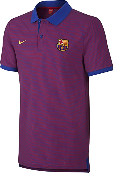 Nike FCB Auth GS Polo Manga Corta Línea F.C. Barcelona, Hombre ...