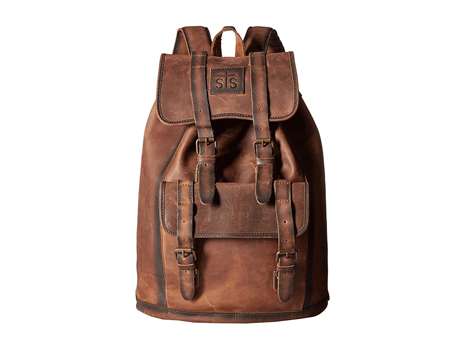 [STSランチウェア] STS Ranchwear メンズ The Foreman Backpack バックパック [並行輸入品] B01N66FYD0 Brown Leather
