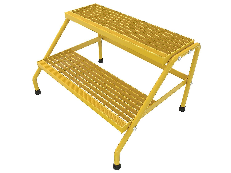 Amazon Com Vestil Ssa 2w Kd Y Aluminum Step Stand 2 Step Wide Knock Down Yellow Industrial Scientific
