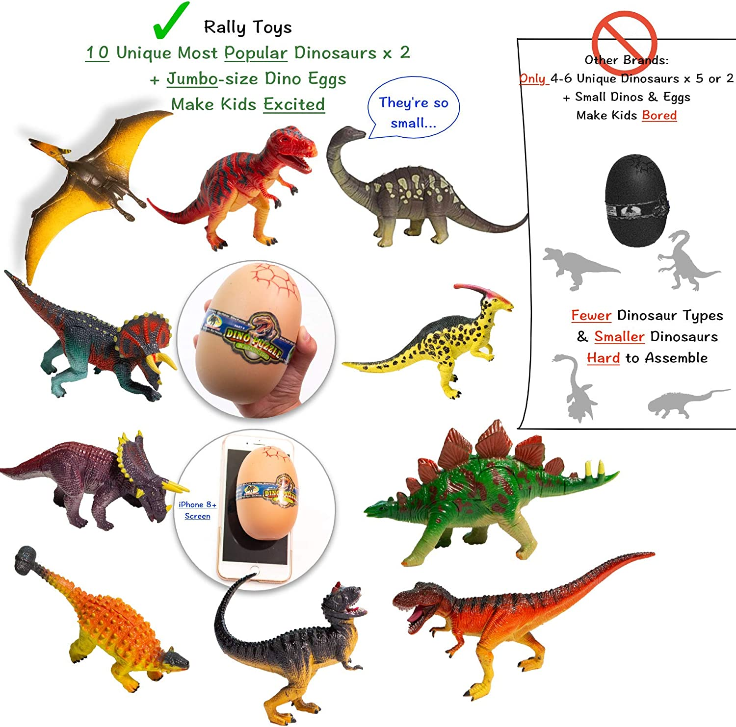 Dinosaur 3D riddle toy puzzle set and egg to hold the parts Styracosaurus type