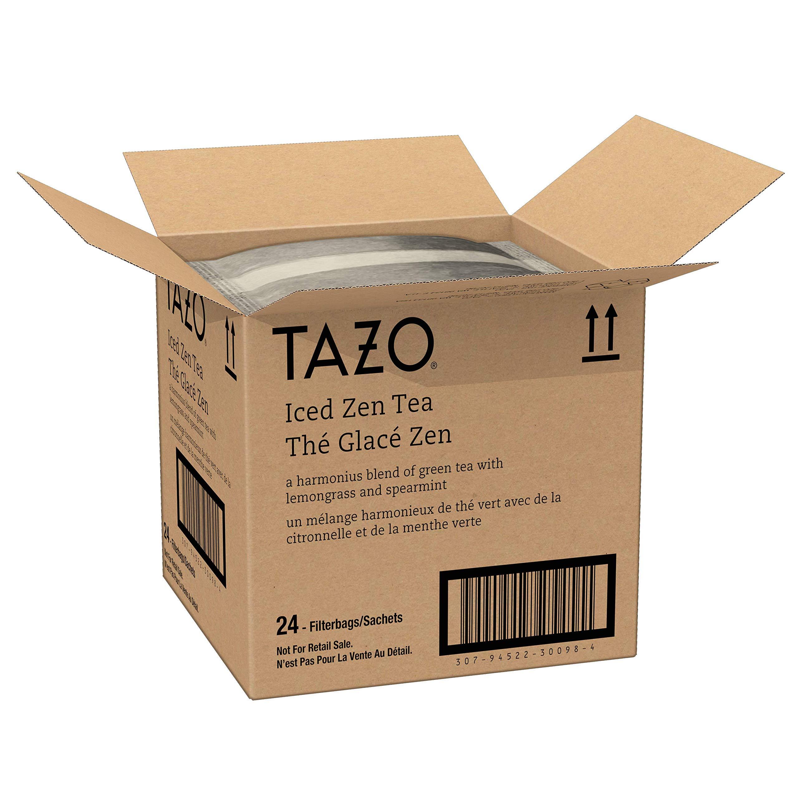 Tazo Zen Green Unsweetened Fresh Brewed Iced Tea Non GMO, 1 gallon, Pack of 24 by TAZO (Image #3)