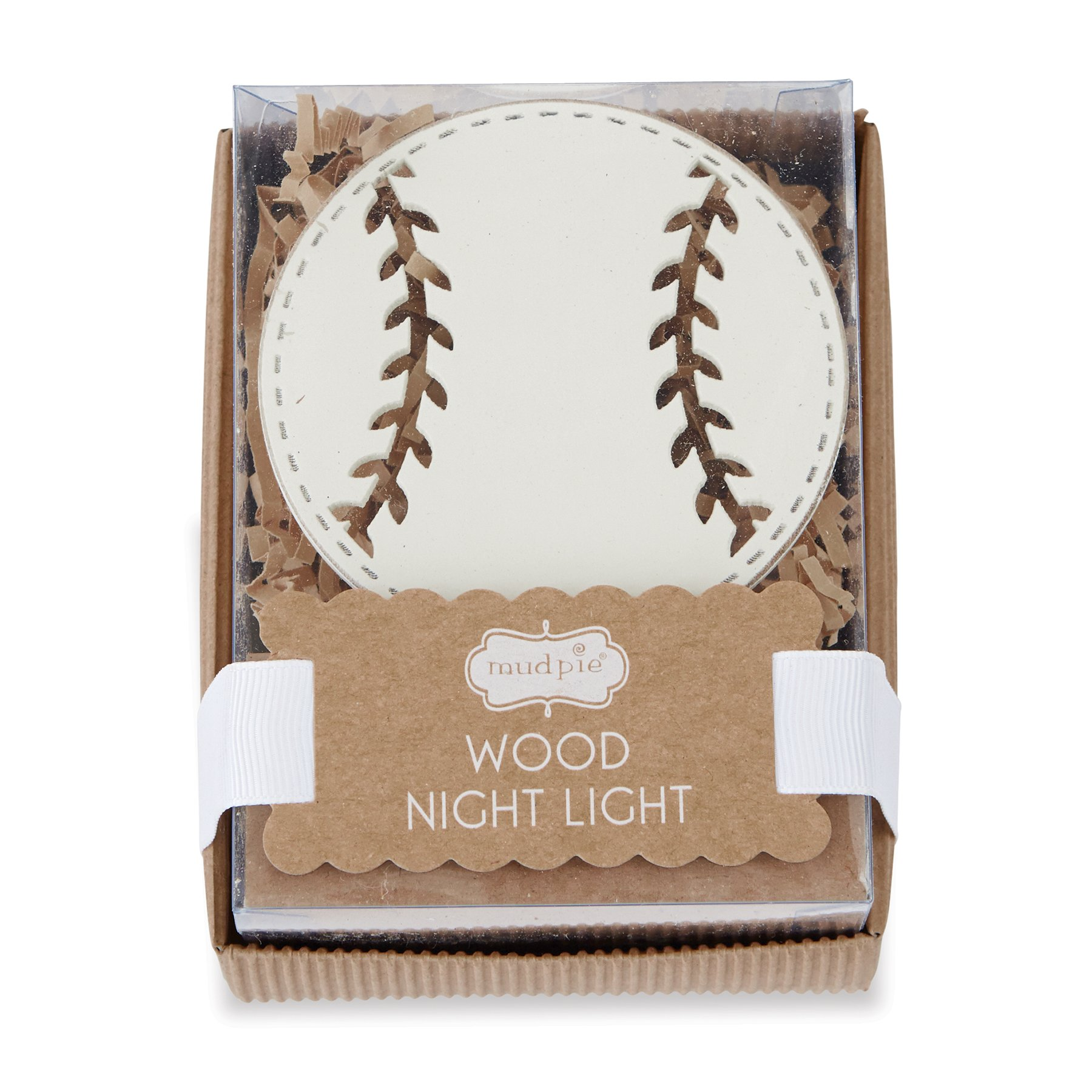 Other Home Decor  Mud Pie Night Light Nursery Decor Wood Baseball White was listed for R519.00